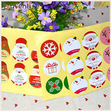 JOY-ENLIF 90pcs/lot Lovely Merry Christmas Adhesive Sticker Gift Seal Sealing Sticker Baking Cake Box Decor Gift Tags Stickers