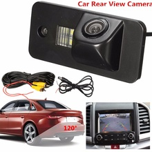 520TV lines 120 Waterproof Car Auto Rear View Rearview Camera Reverse Backup License Plate Camera For Audi A3 A4 A5 RS4(China)