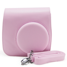 For Fujifilm Instant Mini 8 8 Plus 9 Instax Camera Pink Carry Shoulder Bag Case Cover PU Leather Pouch Sleeve