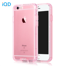 IQD For iPhone 6s Case Shockproof TPU Bumper Anti-Scratch Rigid Slim Protective Clear Back Cover for iPhone 6 6s Plus Cases(China)