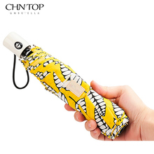 Fully Automatic Print New Arrive Sun Compact Women Female Ladies Lady Strong Windproof Three Color Rain Fashion Umbrellas