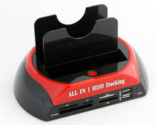 "USB2.0 to 3.5"" 2.5"" IDE SATA HDD Docking Station HDD Docking all in one card reader USB HUB Hard disk box HDD Case"