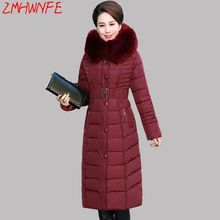 2017 Promotion Rushed Ukraine Middle - Aged Elderly Long Jacket Warm Winter Coat Thicker Mother Fitted Women Cotton Windbreaker(China)