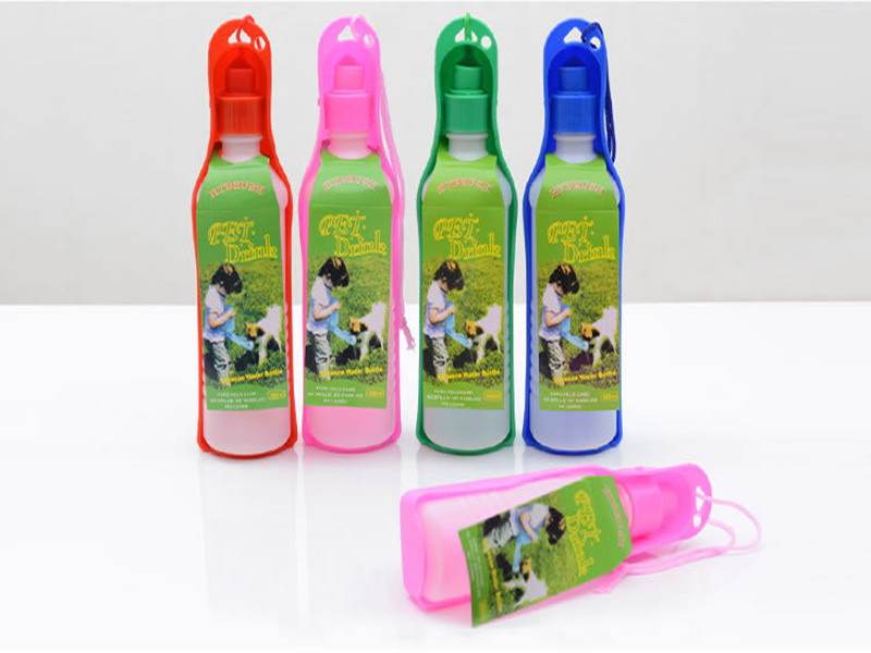 500ML Portable Pet Dog Cat Drinking Fountain Automatic Travel Water Bottle Dispenser Feeder Dog Automatic Water Bowl Pet Bottle(China)