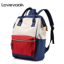 LOVEVOOK fashion backpack women school backpack for teenage girls large capacity female canvas backpack unisex student schoolbag