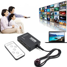 5 Ports HDMI Splitter Switch Selector With Remote Control HUB IR 1080P Switcher For HDTV PS3 GDeals(China)