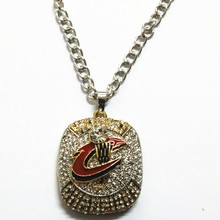 Factory Price! 2017 New Arrival 2016 Cavaliers Basketball MVP JAMES Championship Pendant Sport Necklace For Fans Drop Shipping