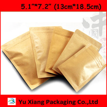 "200pcs/lot 5.1""*7.2""(13cm*18.5cm*140mic High Quality Kraft Paper Food Bag Paper candy Zip Lock Bag Laminating Pouches Wholesaler(China)"