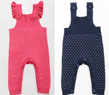 Wholesale Free shipping Baby Girls Boys kids Autumn Winter New One piece Knitted Romper Suspender Infant wear Baby Clothing