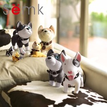 Semk Cat Piggy Bank Vinyl Action Figure Anime Figurines Cute Dog Coin Bank Children Christmas Gift PVC Money Box 1pc(China)