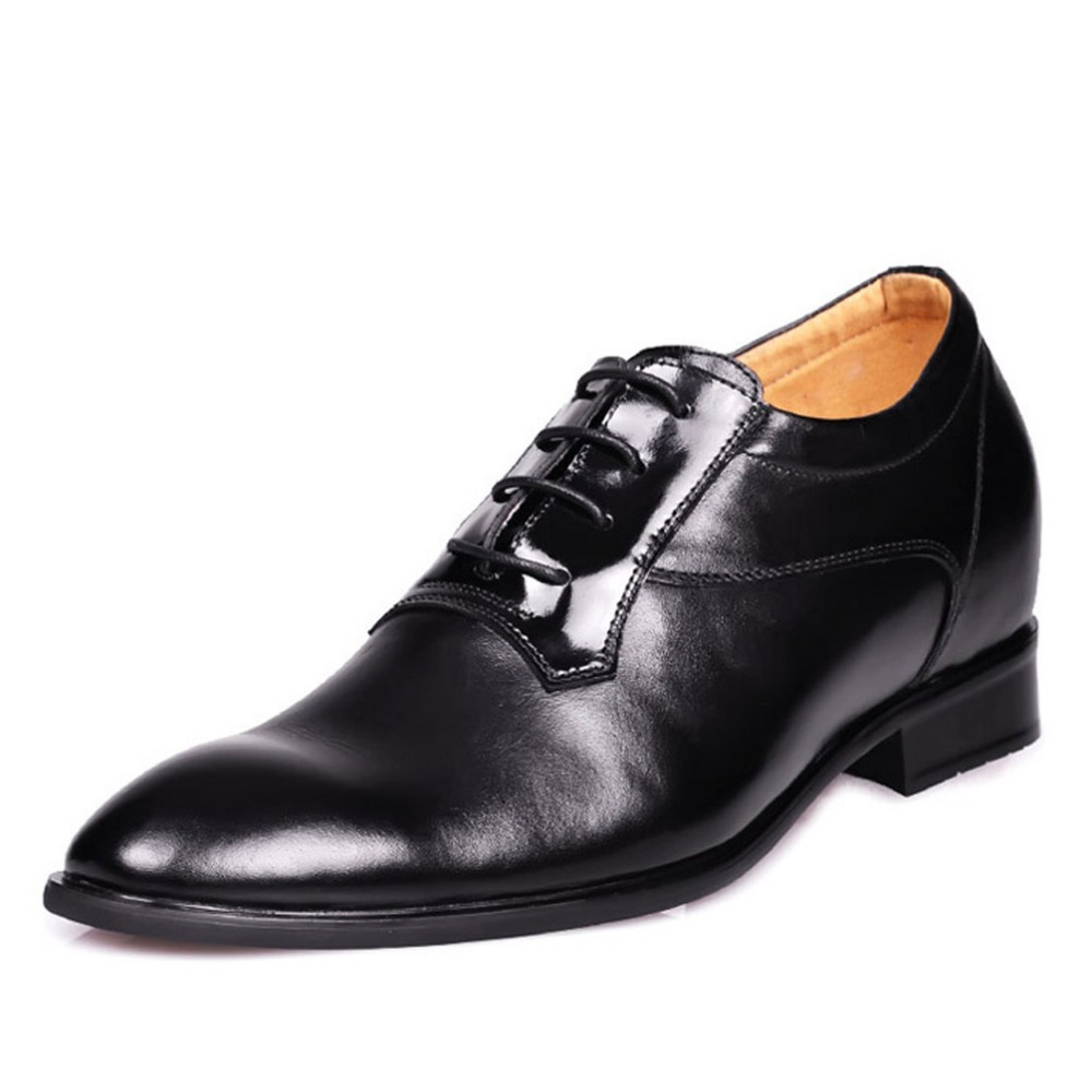 8124- Patent leather oxfords formal shoes in color black elevated height taller shoes business men 7CM instantly for men Sz38-43<br><br>Aliexpress