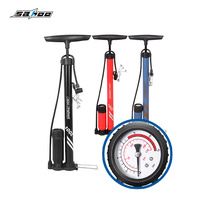 SAHOO Bike Air Pump Cycling Tire Inflator Floor Type Cycling Bicycle Pump Bike Riding Pump High-pressure pump riding equipment