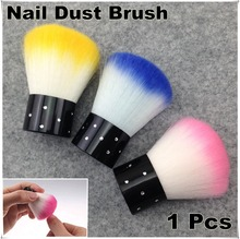 1pcs Colorful Nail Tools Brush For Acrylic & UV Gel Nail Art Dust Cleaner Tools Multi-Color Nail Brush(China)