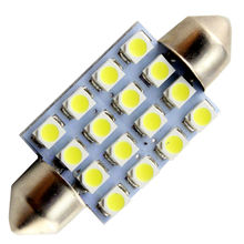10pcs 1210 3258 16 SMD 16 Led 31mm 36mm 39mm 41mm Festoon Dome LED Light Bulbs Super Bright White Light Bulbs(China)