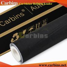 Carbins big pile fabric black  self adhesive suede fabric film for car interior wrap roof fabric dashboard