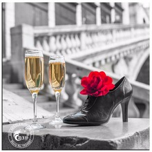 Hot Sale 5D Diy Diamond Painting Champagne Rose Shoes Cross Stitch Romantic Crystal Rhinestone Pictures Embroidery Home Deco