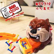 2016 new Funny Toy Stealing Bad Dog Bone Best Tricky Toy Play With Kids Shocker Joke Gift For Children Fun Games Indoor Outdoor
