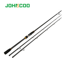 Carbon Rod 2.4m Spinning Fishing rod Extra-Fast Action M MH 2 Tips Test 10-40g Sensitive Fishing pole High Quality Johncoo(China)