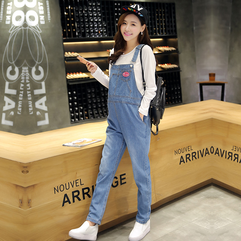 2010 Korean Spring Maternity Denim Overalls For Mom,pregnant Women Pants Jump Suit/monther Jean Pants <br>