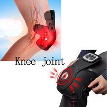 2016 High Quality Portable Massager Infrared Physiotherapy Knees Auto Kneepad Health Care Drop Shipping