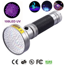 oobest Multi-function Aluminum Alloy Portable 100 LED UV Ultra Violet Flashlight Waterproof Blacklight Invisible Handy Torch(China)