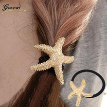 Fashion Hairband Starfish Shape Hair Accesories Sea Star Hair Bands Hair Rope for Women Girls Jewelry Headwear Accessories(China)