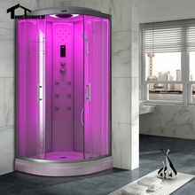 90cm White hydro without Steam shower room cubicle enclosure bath Corner massage Cabin room Cabin  glass walking-in sauna D09