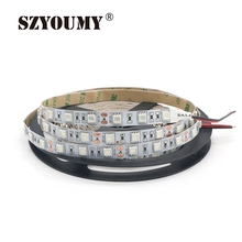 SZYOUMY DC12V 5m UV Black Light Led Strip 5050 SMD 60led/m Non-waterproof Ultraviolet Ray Purple Flexible Tape Ribbon lamp