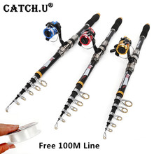 2.1M-3.6M Telescopic Carbon Fishing Rod and Reel Spinning Fishing Rod Combos(China)