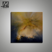 Abstract modern canvas wall handmade yellow scenery cheap watercolor oil painting on canvas for living room bedroom decoration