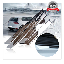High Quality Stainless Stee Door Sill Scuff Plate fit for Volkswagen Golf 6 Golf 7 2010-2017 dual tone door sills