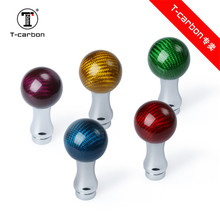 Colourful Universal Carbon Fiber Gear Knob For  Universal auto shift knob  For All Of Car  Car-styling