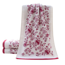 34*74cm Soft Cotton Face Flower Towel Bamboo Fiber Quick Dry Towels Jacquard printing 2017 New Design Fashion Hot Sale