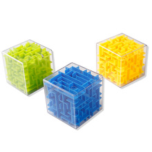 Maze Magic Cube Puzzle 3D Magicos Cubos Labyrinth Rolling Ball Cube Early Childhood Educational Intelligence Gift Adult Kids Toy(China)
