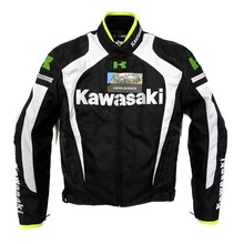 Free shipping New men jacket  for KAWASAKI winter automobile race clothing motorcycle clothing thermal removable liner flanchard