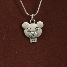 lanseis 20pcs wholesale Cartoon Teddy Bear Necklace pendants for women necklace Animal jewelry Simple necklaces gift for friend