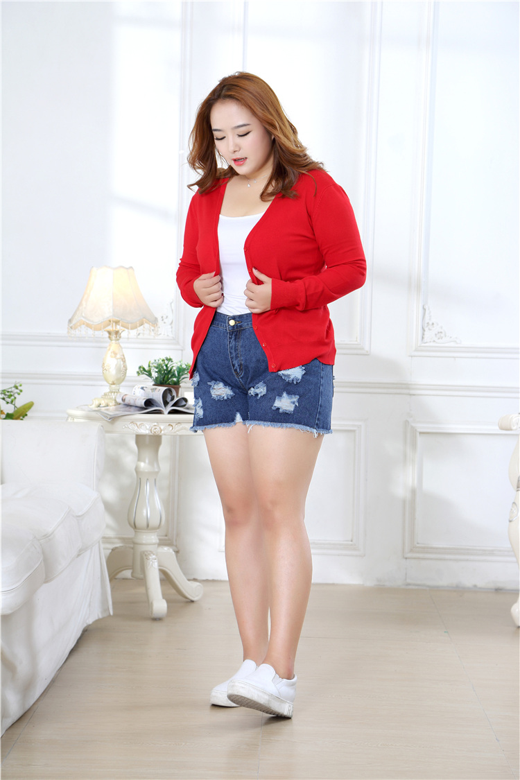 new Sweater Women Cardigan Knitted Sweater Coat Crochet Female Casual V-Neck Woman Cardigans Tops plus size 100KG 11