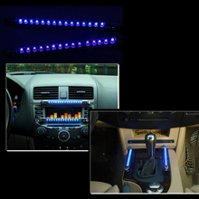 2 Pcs/Lot DC 12V 15 LED Car Sound Effect Control Music Light Bulb Fashion Car Light Sourcing Blue(China)