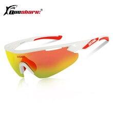 QUESHARK 4 UV400 Lente Ciclismo Óculos de Mountain Bike Óculos De Sol  Polarizados Esporte Ciclismo Óculos 1b42ce12e8
