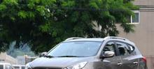 silver Decoration Roof Rack Side Rails Bars For Hyundai  Tucson ix35 2009-2015