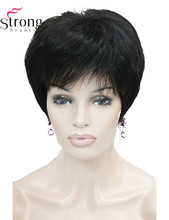 Short Layered Fluffy BlackFull Synthetic Wig for Women(China)