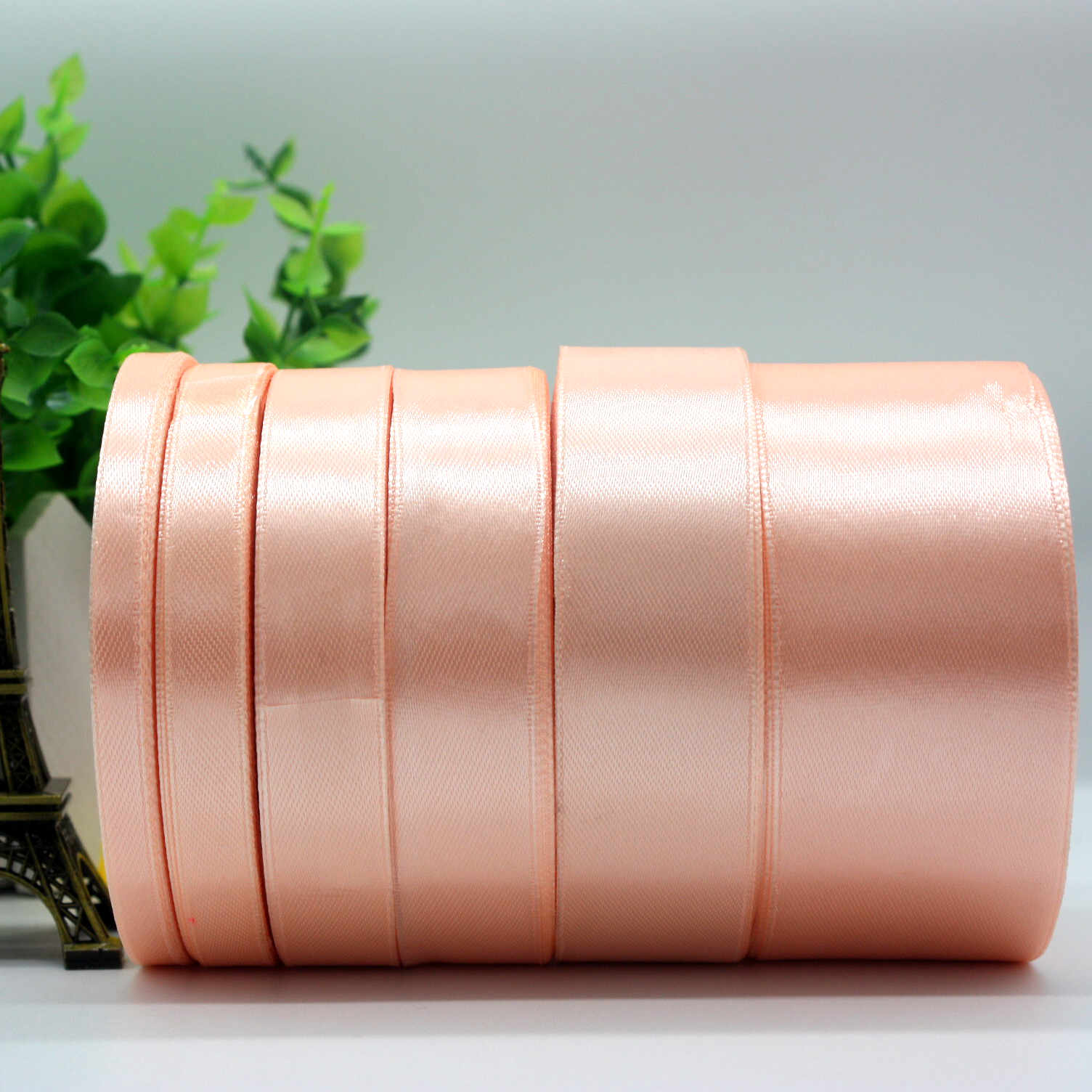 spool of Quality Satin Ribbon 10mm wide Full Roll Approx 25 Metres per roll