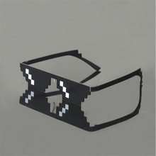 2017 New Deal with it Glasses Thug Life Glasses Pixel Women Men Sunglasses Black Mosaic Sun Glasses(China)