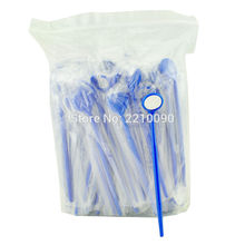 Free Shipping 100Pcs/Set blue Dental Disposable Mouth Exam Mirrors Plastic Instrument Mirror(China)