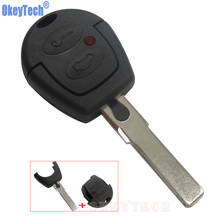 OkeyTech Replacement Key Case For VW Passat Polo Golf Sharan Bora 2 Buttons Blank Remote Key Fob Shell Cover Uncut Blade Keyless(China)