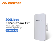 2pc 5G Comfast mini wireless Outdoor Wifi CPE Router repeater 1-2km Long range 11dbi Antenna wi fi Network bridge CF-E120A(China)