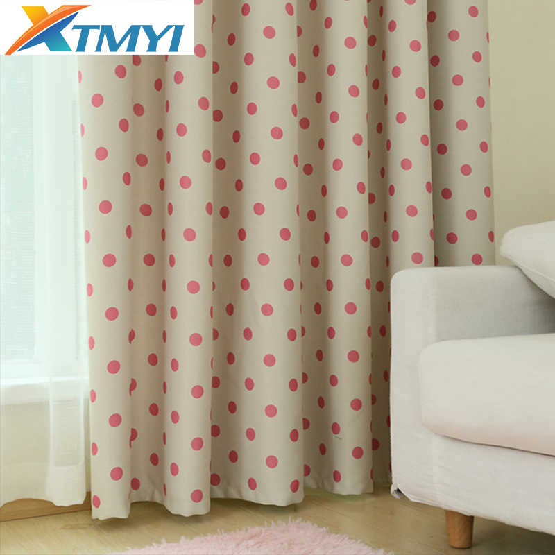 Korean Girls Pink Baby room blackout curtains  for Living Room Bedroom Fabrics Kitchen Window Curtains Drapes