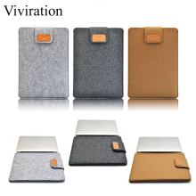 Viviration Brand 11 13 15 inch Wool Felt Fabric Laptop Bag Ultra Thin Tablet Inner Case For Macbook Air 11.6 Air 13.3 Pro 15.4(China)