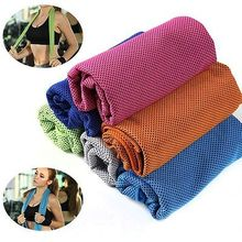 Multicolor 100*30cm Ice Towel Utility Enduring Instant Cooling Towel Heat Relief Reusable Chill Cool Towel Cold towel