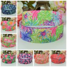 "DUWES 7/8""22mm Lilly Halloween Christmas Printed grosgrain ribbon hairbow decoration DIY handmade wholesale OEM 50YD(China)"